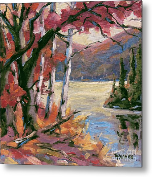Art Metal Print featuring the painting North Lake By Prankearts by Richard T Pranke