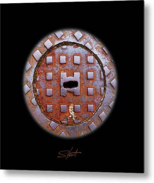 Face Metal Print featuring the photograph O2 by Charles Stuart