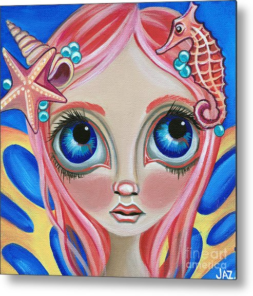 Art Metal Print featuring the painting Oceanic Fairy by Jaz Higgins