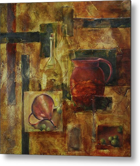 Olives Metal Print featuring the painting Olives IIi by Lorraine Ulen
