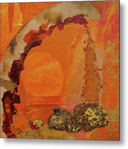 Orange Metal Print featuring the painting Orange Day by Carole Johnson