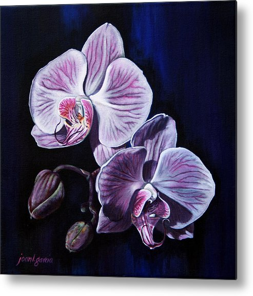 Flowers Metal Print featuring the painting Orchids II by Joan Garcia