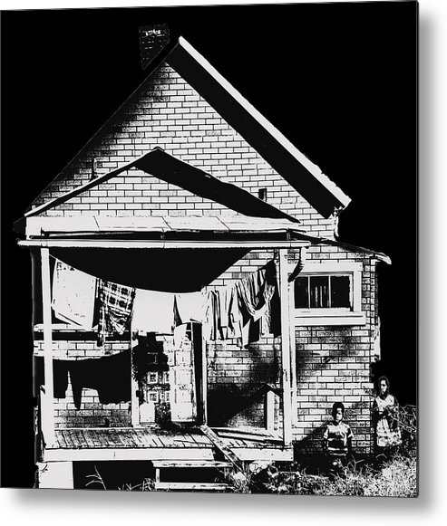 Poor Metal Print featuring the photograph Other Side Of America by Don Wolf