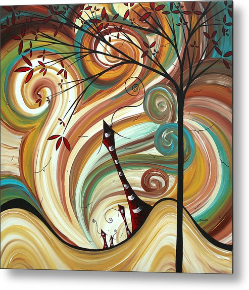 Wall Metal Print featuring the painting Out West II By Madart by Megan Duncanson