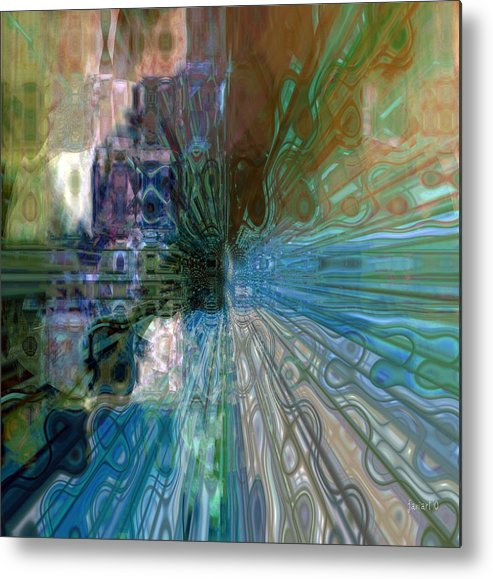 Fania Simon Metal Print featuring the mixed media Outside The Norm by Fania Simon