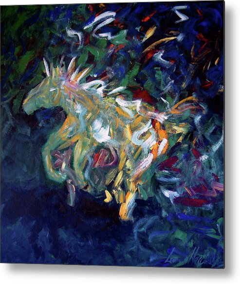 Abstract Horse Metal Print featuring the painting Painted Pony by Lance Headlee