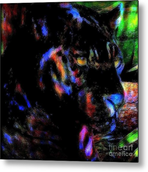 Panther Metal Print featuring the painting Panther by Wbk