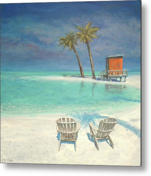 Beach Metal Print featuring the painting Paradise Dream by Paul Emig