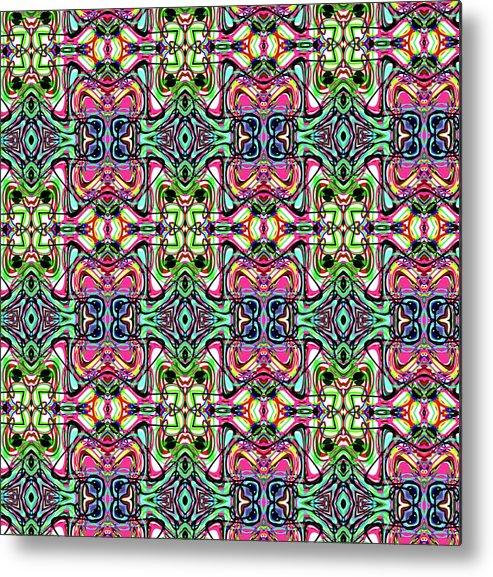 Pink Metal Print featuring the digital art Pattern 8326 by Kristalin Davis