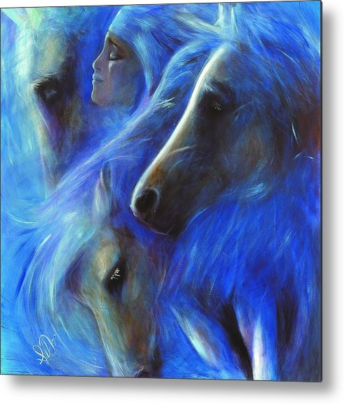 Native American Metal Print featuring the painting Personal Empowerment I by Elizabeth Silk