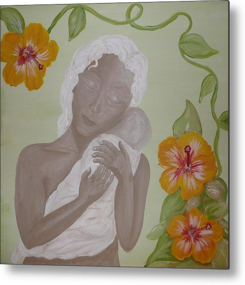 Mother Metal Print featuring the painting Precious Time by Jennifer Hernandez