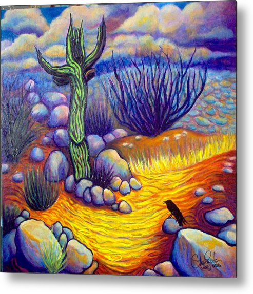 Landscape Metal Print featuring the painting Resurrection by Steve Lawton