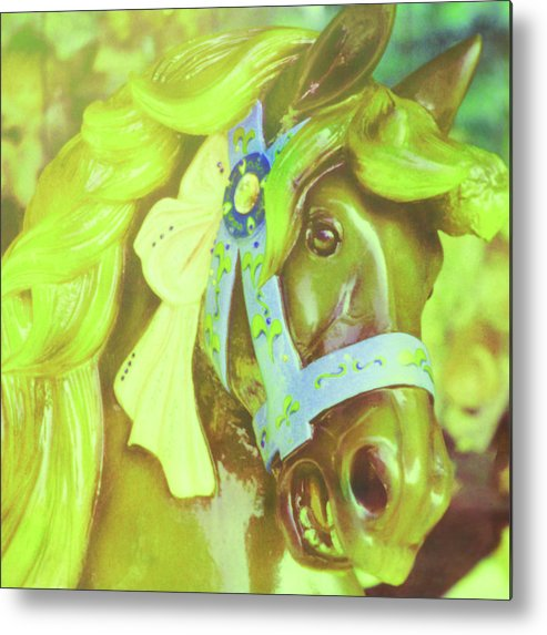 Horse Metal Print featuring the photograph Ride Of Old Green by JAMART Photography