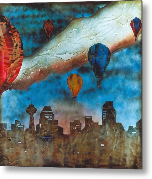 Landscape Metal Print featuring the painting Riding The Chinook by Rick Silas