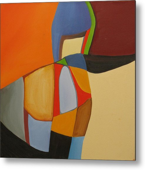Abstract Metal Print featuring the painting River Bound II by David McKee