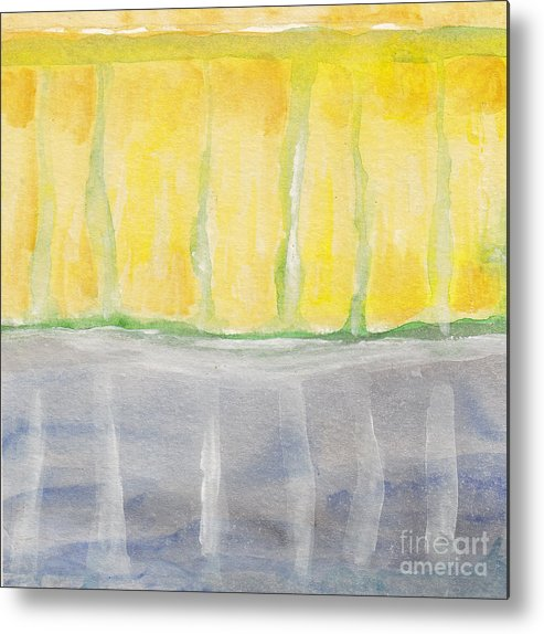 Abstract Metal Print featuring the painting Rochester - Abstract Weather by Ebba Jahn