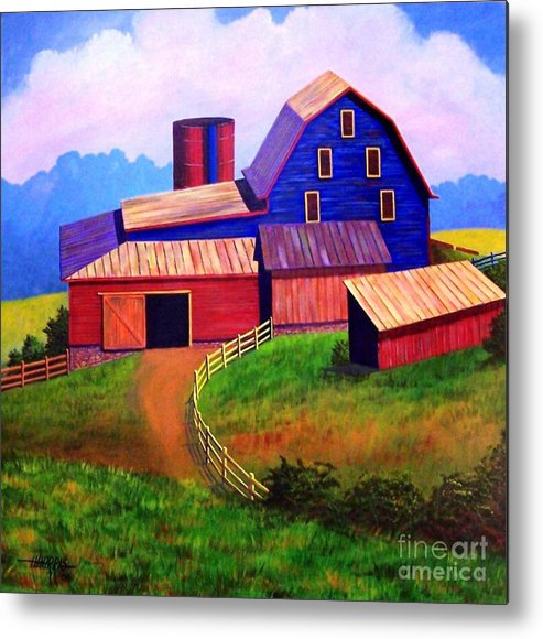 Landscape Metal Print featuring the painting Rural Reverie by Hugh Harris