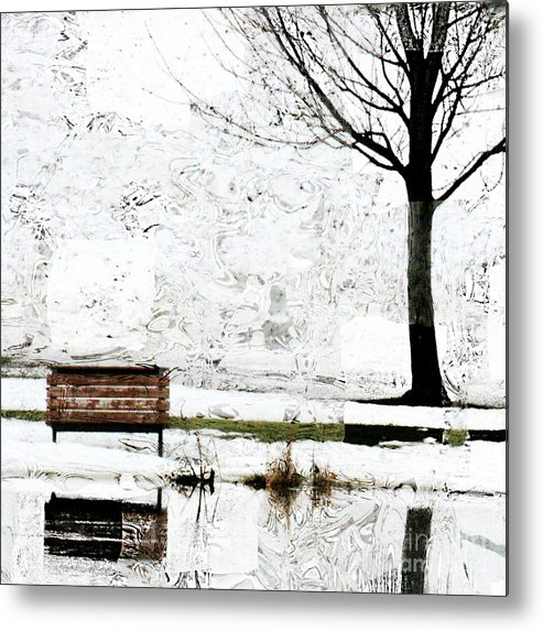 Snow Scene Metal Print featuring the photograph Sadly I Sit Alone by Julie Lueders