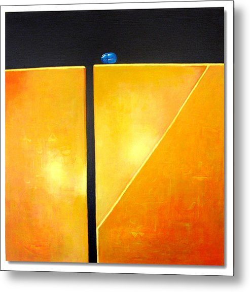 Mural Metal Print featuring the painting Scarab On Edge by Ihab Bishai