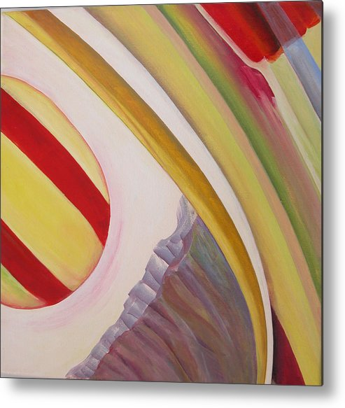 Abstract Metal Print featuring the painting Sens 4 by Muriel Dolemieux