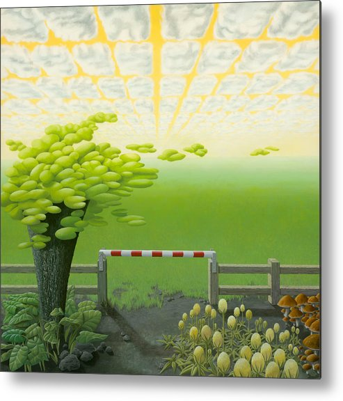 Tree Metal Print featuring the painting September by Patricia Van Lubeck
