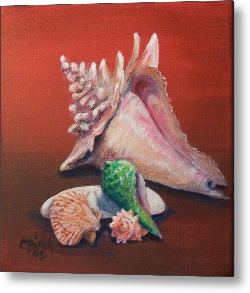 Metal Print featuring the painting Shells by Colleen Birch