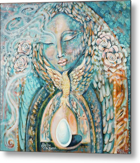 Metal Print featuring the painting Shelter Of The Sacred by Shiloh Sophia McCloud
