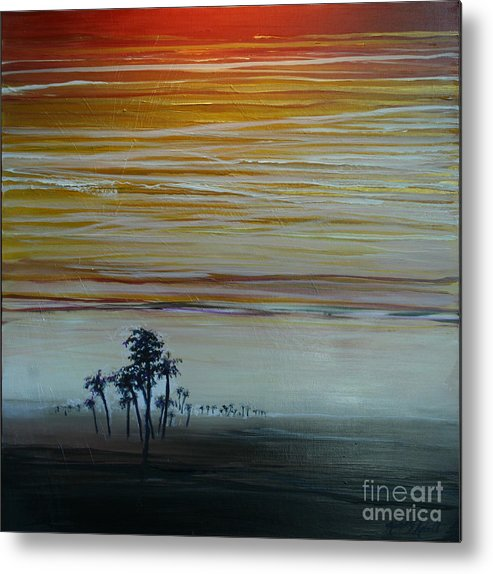 Palms Metal Print featuring the painting Smooth Jazz by Michele Hollister - for Nancy Asbell