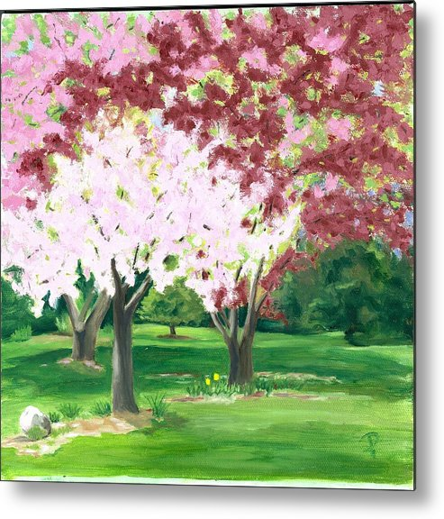 Spring Metal Print featuring the painting Spring At Osage Land Trust by Paula Emery