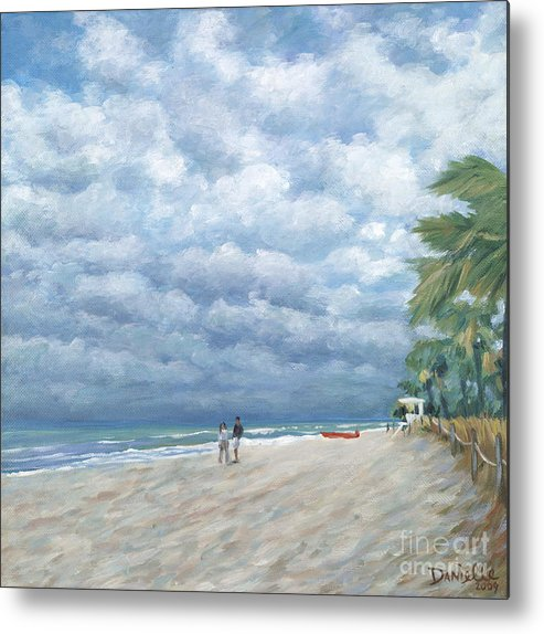 Fort Lauderdale Metal Print featuring the painting Storm On The Horizon by Danielle Perry
