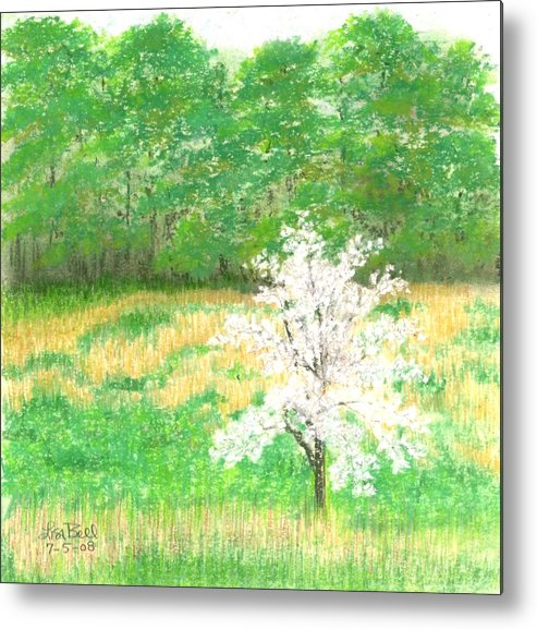 Landscape Metal Print featuring the painting Studio Windows-7-5-08-dogwood by Lisa Bell