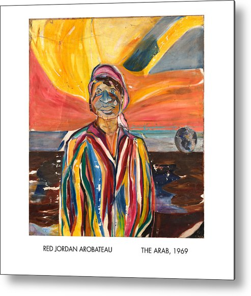 Coat-of-many-colors Metal Print featuring the painting The Arab by Red Jordan Arobateau
