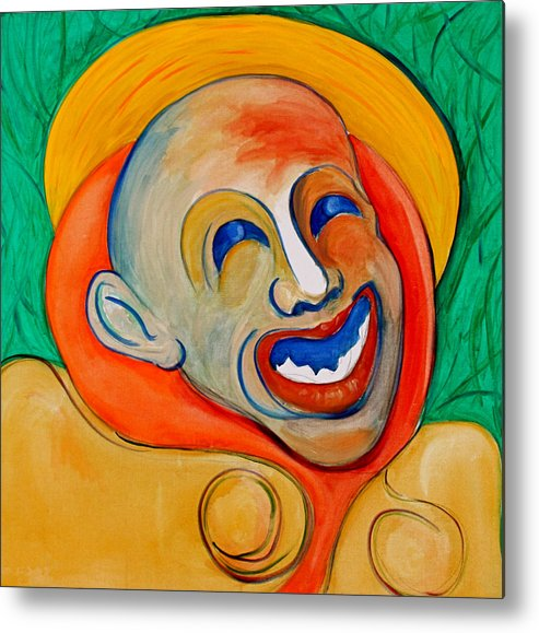 Clown Metal Print featuring the painting The Laugh Of A Clown by Dan Earle