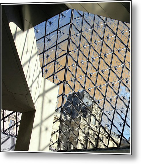 Paris Metal Print featuring the photograph The Louvre by Guy Ciarcia