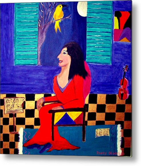 Fauvism Metal Print featuring the painting The Witch's Duet by Rusty Woodward Gladdish