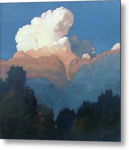 Cloud Metal Print featuring the painting Thundercap Rising In Santa Fe by Gary Coleman