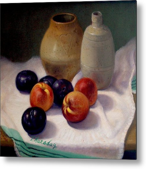Realism Metal Print featuring the painting Thursday by Donelli DiMaria