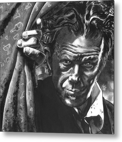Musicians Metal Print featuring the mixed media Tom Waits by Ken Meyer