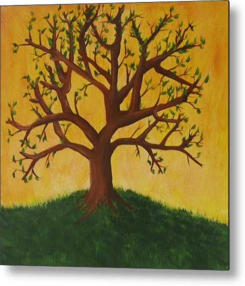 Tree Metal Print featuring the painting Tree Of Life by Jennifer Hernandez