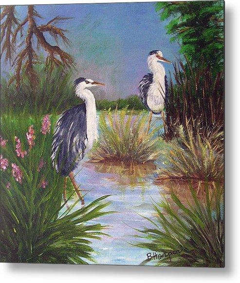 Heron Metal Print featuring the painting Tricolored Heron by Barbara Harper