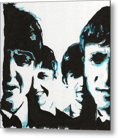 Beatles Metal Print featuring the painting Twist And Shout by Matt Burke