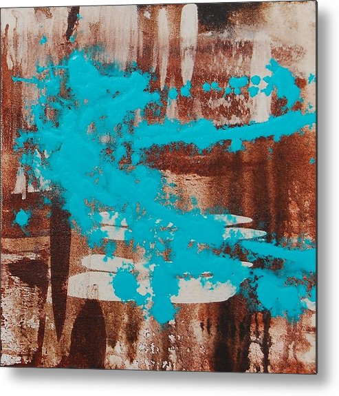 Urban Metal Print featuring the painting Urbanesque II by Lauren Luna