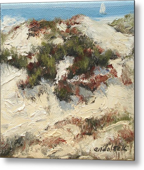 Water Metal Print featuring the painting Ventura Dunes I by Barbara Andolsek
