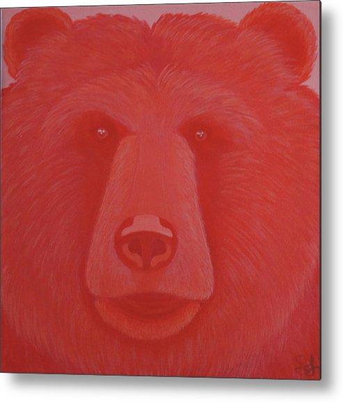 Vermillion Bear Metal Print