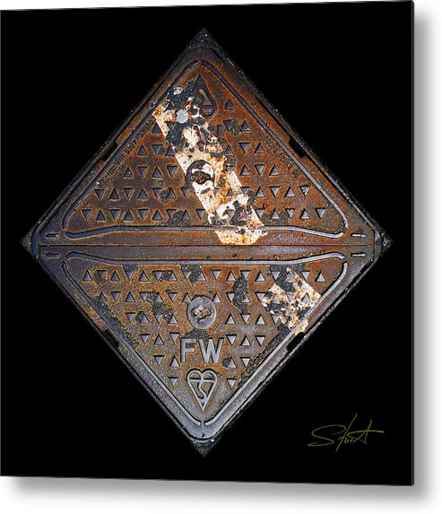 Grating Metal Print featuring the photograph White Stripe Diamond by Charles Stuart