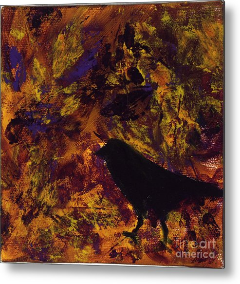 Bird Metal Print featuring the painting Yellow Bird by Robin DeLisle