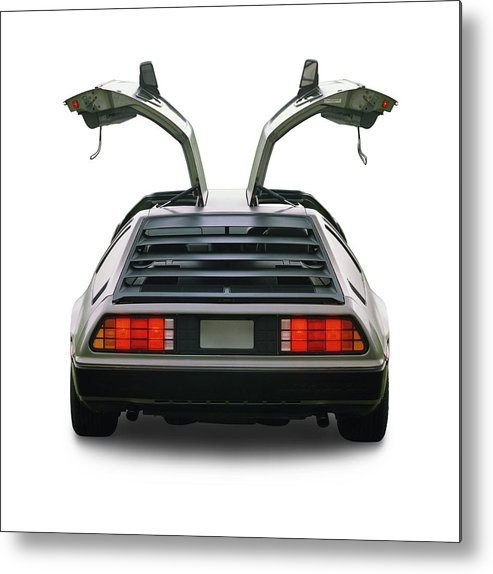 1980-1989 Metal Print featuring the photograph 1983 Delorean Coupe by Car Culture