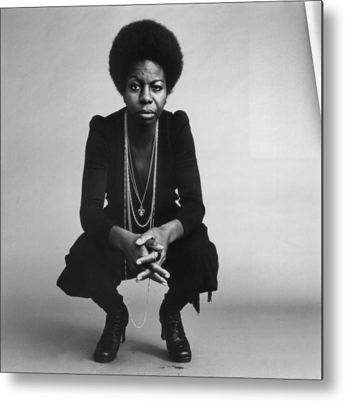 Singer Metal Print featuring the photograph Nina Simone by Jack Robinson