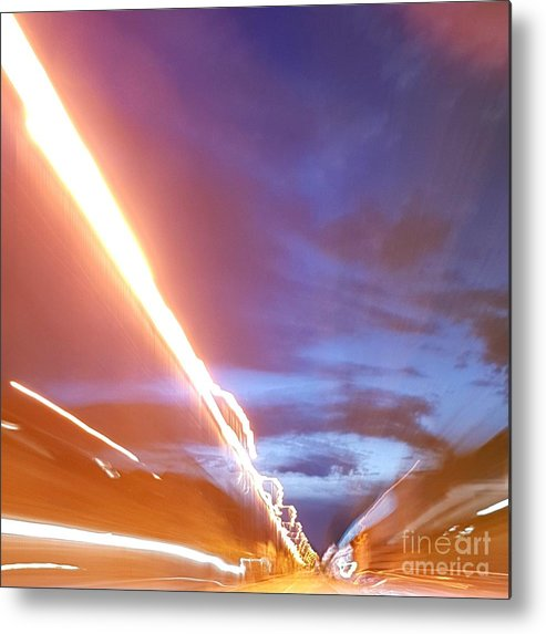Artdetail Metal Print featuring the photograph Flash In The Night by Paola Baroni