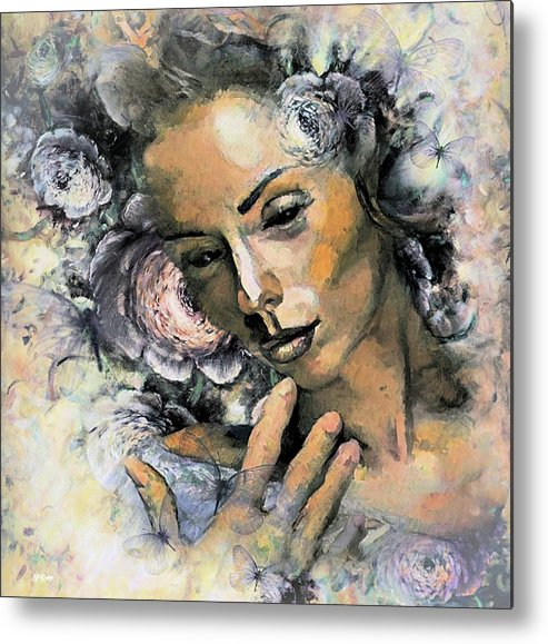 Romance Metal Print featuring the mixed media I Saw You And I Just Knew by G Berry